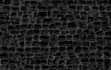 Crocodile Skin Pattern. Black Viper, Drawing On The Snake Skin. Reptile Surface Monochrome Croc Leather Texture. Animal Seamless Background For Printing. Raster Copy Illustration