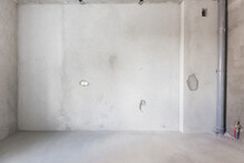 Interior Of The Apartment Without Decoration In Gray Colors