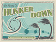 A vintage style poster advertisement for hurricane preparedness