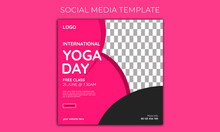 Yoga Day Fitness Health Social Media Post Banner Template Istygraphic