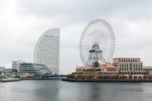 Scenery Of Yokohama Port Near Tokyo, Japan