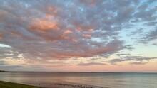 Sky Study Over Long Island Sound Connecticut