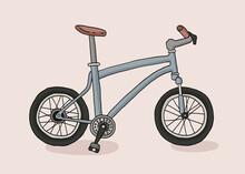 Bicycle Hand Drawn Vector Illustration