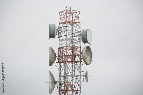 Transmissor de antena de comunicação sem fio Fotobehang