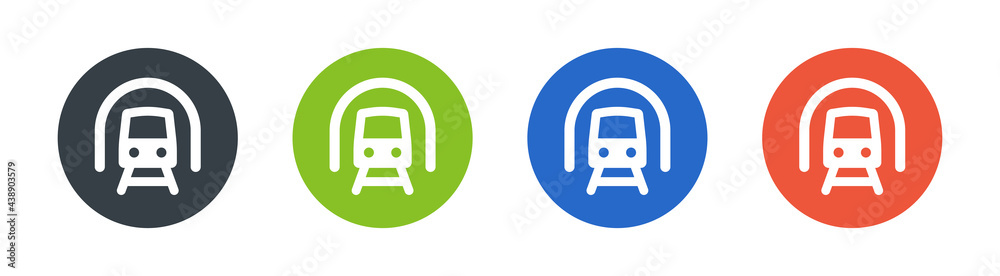 Fotografie, Obraz Train icons sign set. Transportation concept