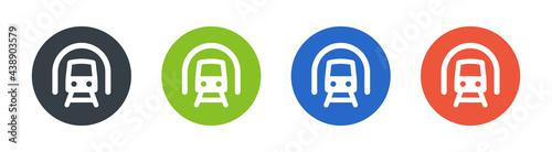 Obraz na plátně Train icons sign set. Transportation concept
