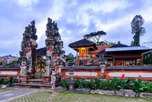 Pura Ulun Danu Beratan Or Pura Bratan Is A Hindu Temple On A Lake Beratan In Bali, Indonesia.
