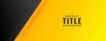 Black And Yellow Modern Wide Halftone Banner