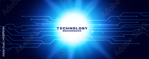 Fotografiet technology banner with circuit lines diagram
