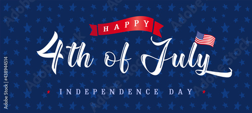 Fotografia Happy Independence Day USA creative banner