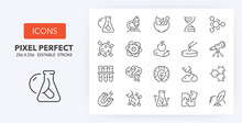 Science Line Icons 256 X 256