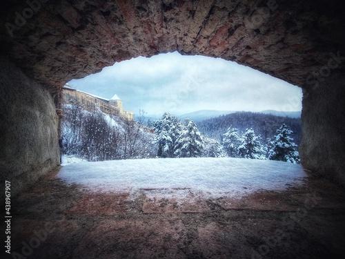 ice cave in winter Fototapet