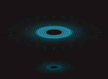 Cosmic Event Black Holes Mirror In Deep Blue Shades