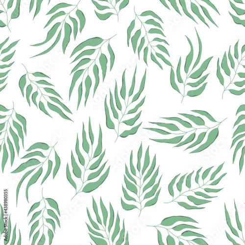 Tapety Etniczne  kwiatowy-bez-szwu-z-recznie-rysowane-kolor-lisci-ladny-jesien-tlo-zwrotnikowe-zielone-galezie-nowoczesne-kompozycje-kwiatowe-moda-wektor-ilustracji-do-tapety-plakaty-karty-tkaniny-tekstylia