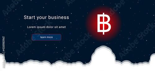 Slika na platnu Business startup concept Landing page screen