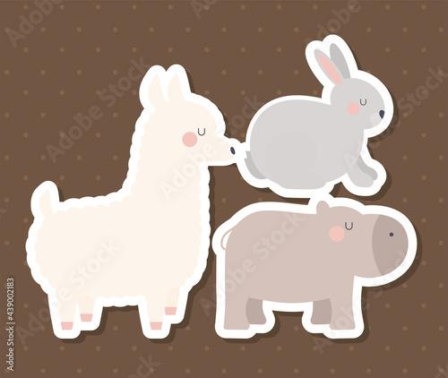 Fototapeta premium three animals design
