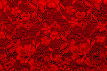 Background Fabric Red Guipure On A Black Background