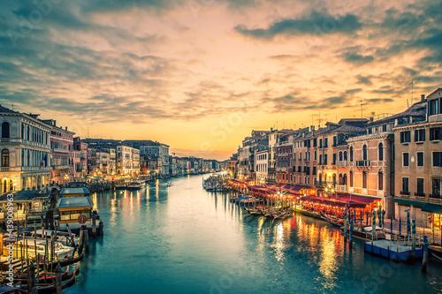 Obraz na płótnie Venice cityscape with Grand Canal waterway