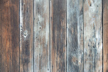 Rustic Old  Wooden Background. Wood Planks. Turquoise Light Blue Colored Wood Planks Background Texture.