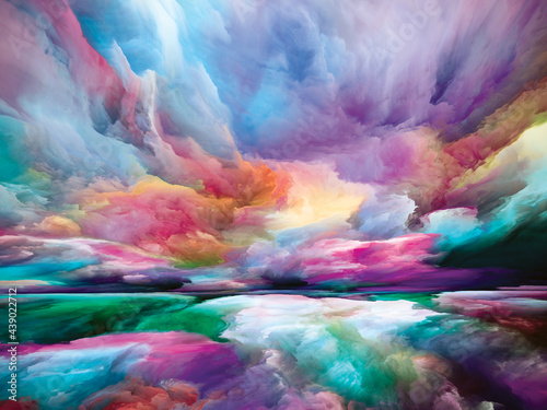 Fotografie, Obraz Digital Perspectives of Land and Sky