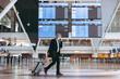 Leinwandbild Motiv Business trip after pandemic lockdown
