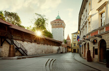 St. Florian's Gate In Krakow Old Town, Poland