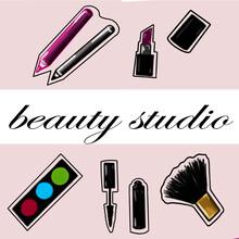 Beauty Studio, Beauty Services, Beauty Sphere, Service Sector, Eye Shadow, Eye Shadow, Mascara, Eyebrow Mascara, Makeup Brush, Lipstick, Perfume, Make-up Pencils, Logo, Flyer, Beauty Salon Logo, Beaut