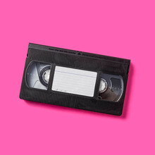 Studio Shot Of VHS Tape With Blank Label
