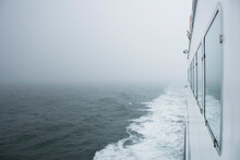 View From Ferry Of Foggy Nantucket Sound