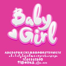 Baby Girl Font Vector
