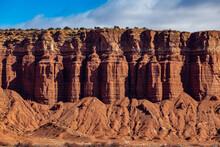 USA, Utah, Escalante, Sandstone Cliffs In Grand Staircase-Escalante National Monument