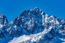 USA, Idaho, Stanley, Sawtooth Mountains With Snow
