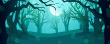 Tree Background For Halloween