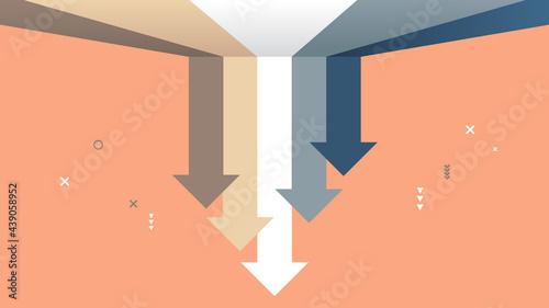 Slika na platnu falling down economic downward arrows financial crisis bankruptcy Covid-19 marke