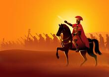 Gaius Julius Caesar On Horseback
