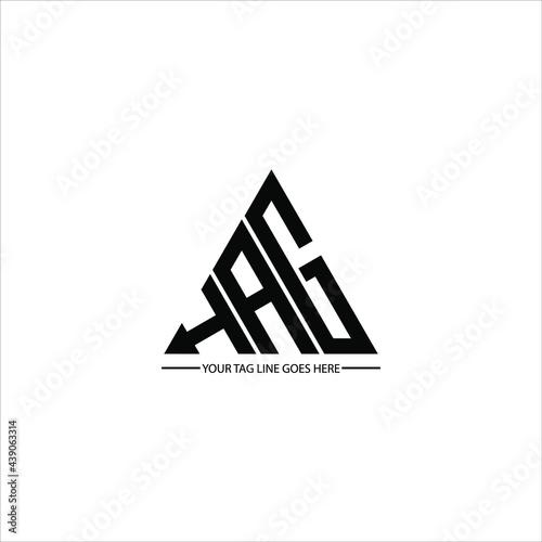 Fototapeta H A G letter logo abstract creative design. H A G unique design