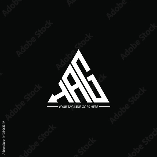 Canvas-taulu H A G letter logo abstract creative design. H A G unique design