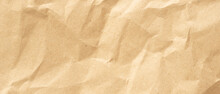 Crumpled Paper Texture Background, Real Cardboard Pattern