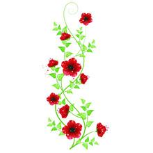 Flower Decoration Beautiful Greeting Card Invitation Vector Illustration