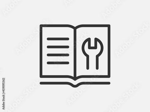 Foto Guide icon vector, user manual