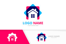Simple Property House Logo. Real Estate Logotype Design Template.