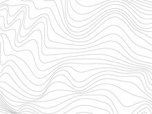 Wavy Thin Lines Made For Wallpaper Design.Gray Distorted Lines Made For Your Design.