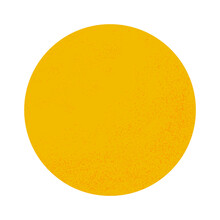 Yellow Circle With Halftone Dots On A White Background. Orange Or Tangerine. Moon Or Sun. Print For Decorative Pillows, Interior Design. Vector.