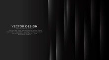Modern Minimalist Luxury Dark Abstract Background With Lines. Dark Geometric Layers Vector Design. Can Be Used In Cover Design, Book, Poster, Flyer, Website, Banner, Advertising. Vector Illustration