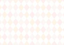 【背景素材】アーガイルチェック柄55 白背景(茶色、ピンク、グレー、オレンジ)