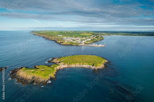 Canvastavla Aerial view of Ballycotton, a coastal fishing  village in County Cork, Ireland