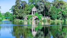 Vincennes, The Temple Of Love And Artificial Grotto On The Daumesnil Lake, In The Public Park