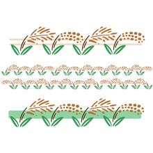 デフォルメタッチの稲のライン デコレーション