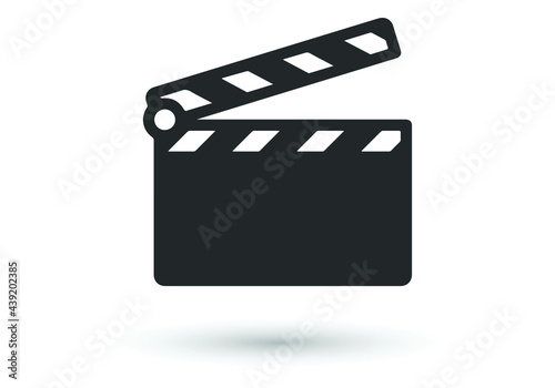 Canvas Print Clapperboard icon
