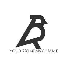 Bird Logo Design With A Shape Resembling The Letter B, Simple And Elegant